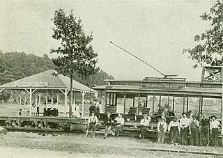 Trolley at Stratham Hill Park 1905, Stratham, New Hampshire