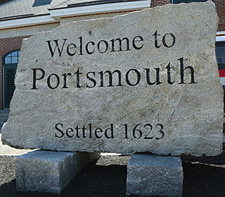 Welcome to Portsmouth sign on July 4, 2013.